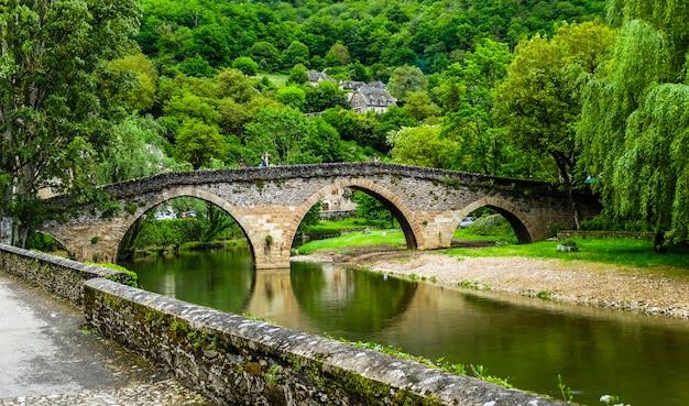 Belcastel medieval stone bridge, aveyron, france