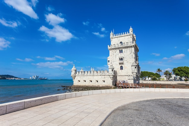 Belem tower is a fortified tower located in the civil parish of santa maria de belem in lisbon, portugal