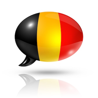Belgian flag speech bubble