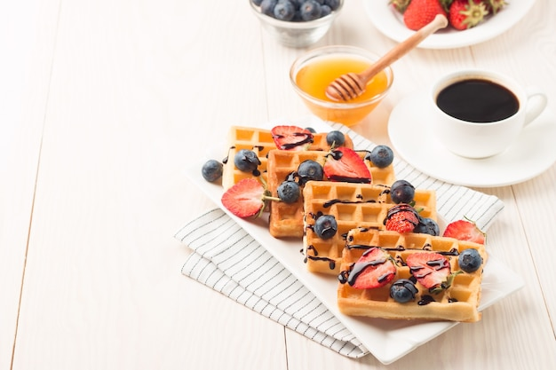 Belgian waffles for breakfast