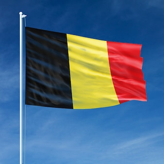 Belgium flag flying