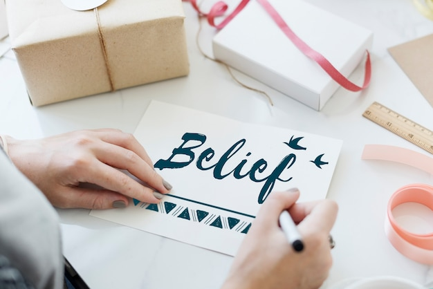 믿음 믿음 희망 사랑 개념