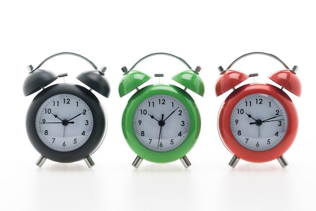 Campana ora d'orologio mattina verde