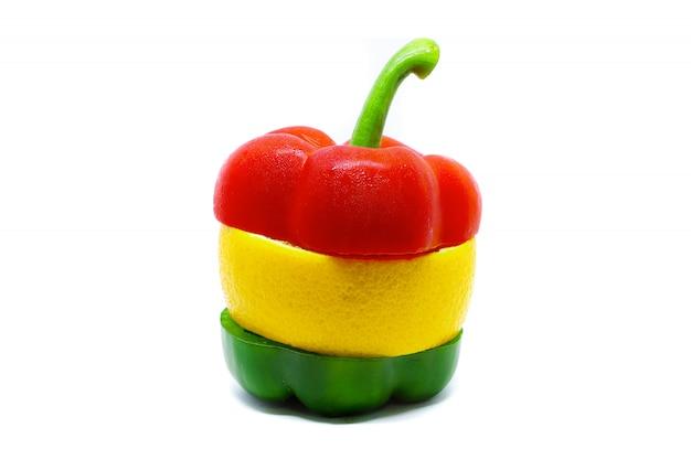 Bell pepper and navel orange