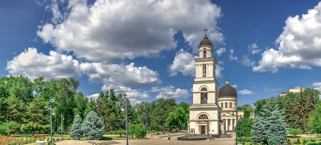 Bell tower in chisinau, moldova