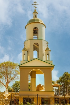 Bell tower at the church of the archangel michael in the crimea