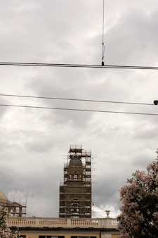 Bell tower under construction