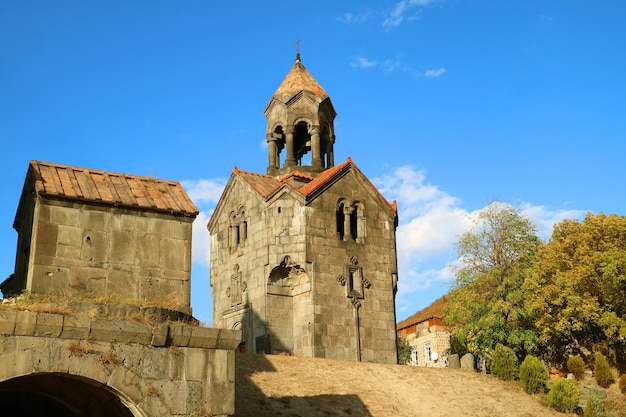 Bell tower of haghpat monastery complex unesco world heritage site in lori province of armenia