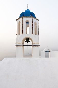 Bell tower in an orthodox church in santorini
