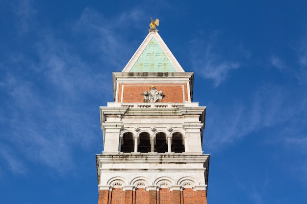 The bell tower of san marco, campanile in venice, italy.