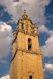 Bell tower of santa maria church in los arcos