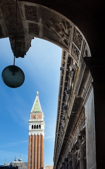 Bell tower of st mark's basilica in venice, italy.