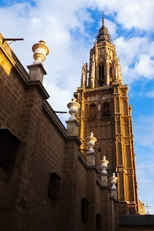 Bell tower of toledo cathedral Free Photo