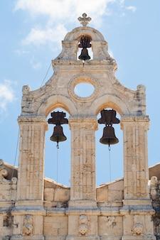 アルカディ修道院の鐘の町、クレタ島、ギリシャ