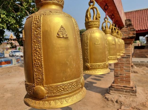 タイの仏教寺院の鐘
