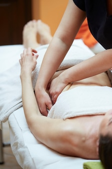 Belly massage at spa club