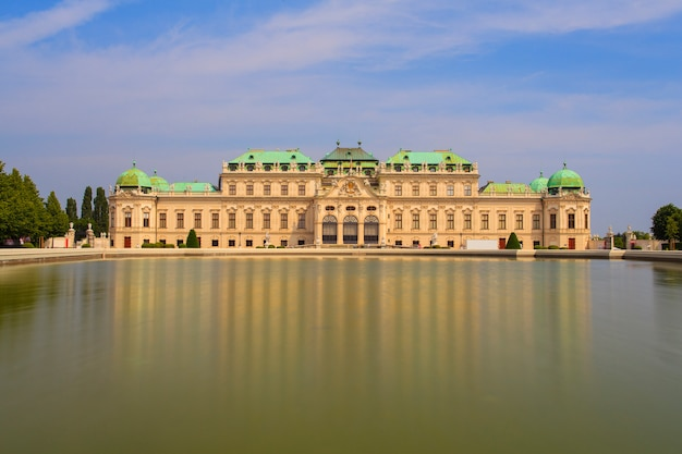 The belvedere castle, historic building complex, vienna