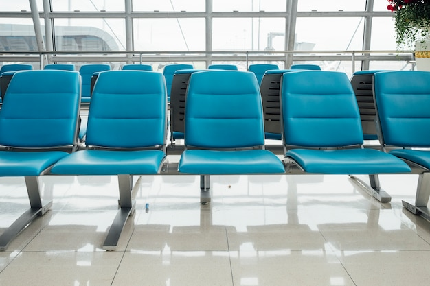 Bench chair in airport
