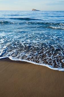 Benidorm beach and island in alicante