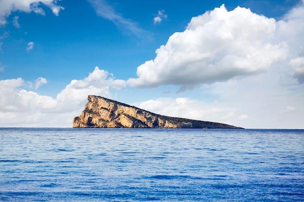 Benidorm island in mediterranean alicante