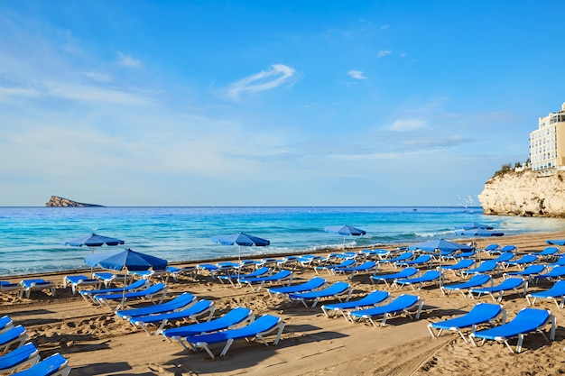Benidorm levante beach in alicante spain