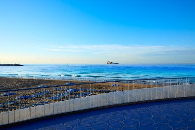 Benidorm poniente beach in alicante spain