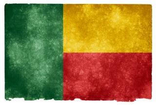 Benin grunge bandiera gialla