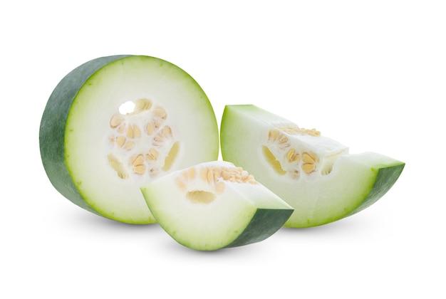 흰색 배경에 benincasa hispida
