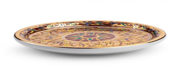 Benjarong 접시는 화이트 태국에서 전통 예술입니다