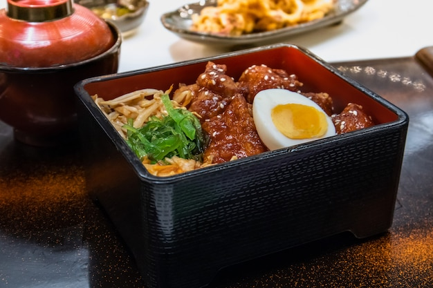 Bento chicken karaage  (japanese fried chicken )