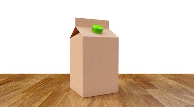 Beo carton box of milk on field background. 3d illustration