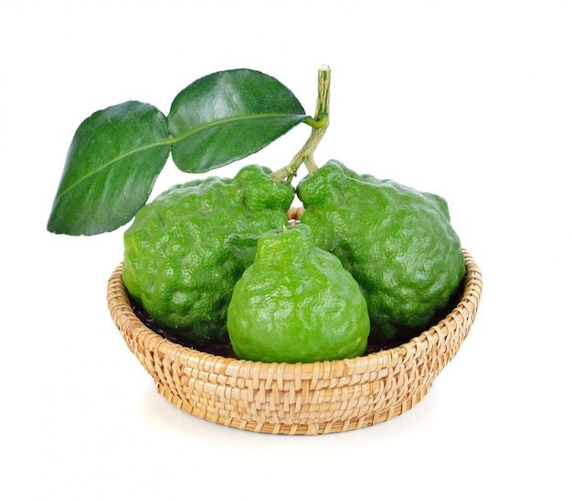 Bergamot fruit isolated on white