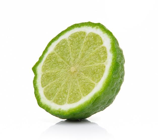 Bergamot fruit on a white