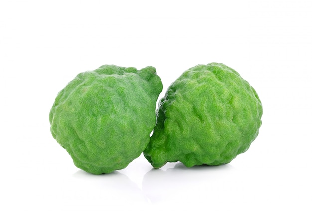Bergamot isolated on white