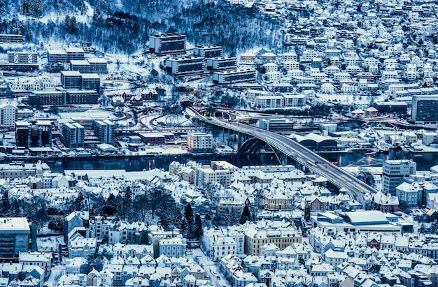 Берген зимой,