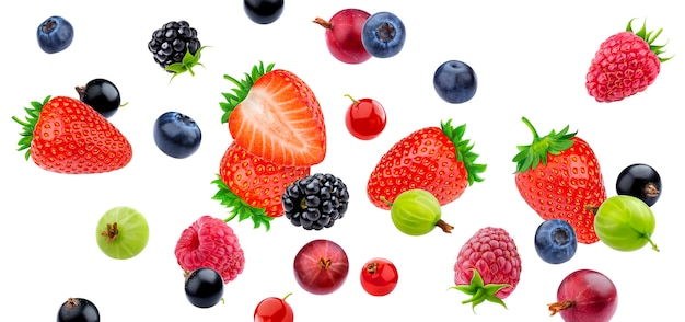 Berries isolated on white background with clipping path