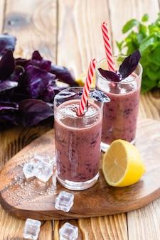 Berries milkshake smoothie