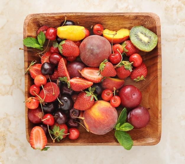 木の板の果実