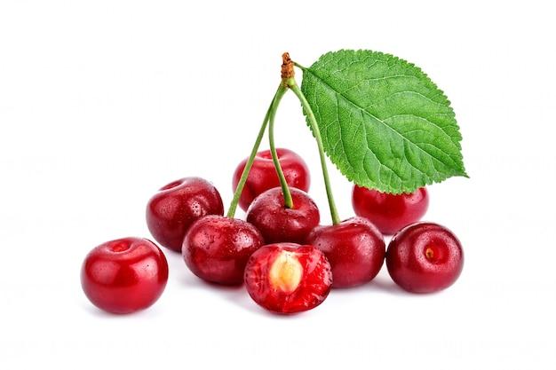 白熟したチェリーの果実