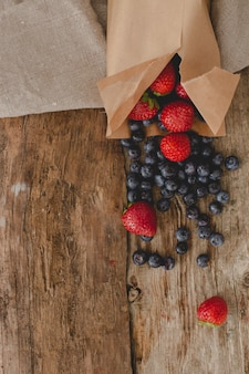 Berries on the table