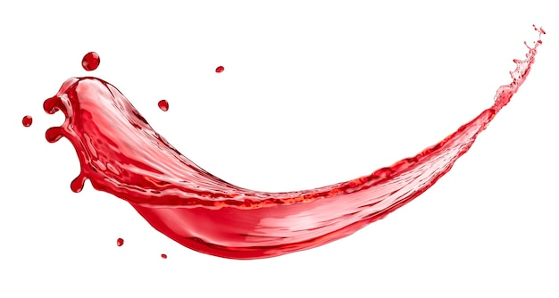 Всплеск сока ягод, изолированные на белом фоне