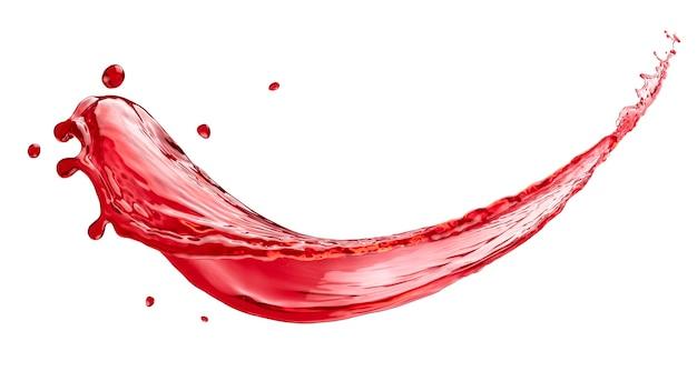 Berry juice splash isolated on white background