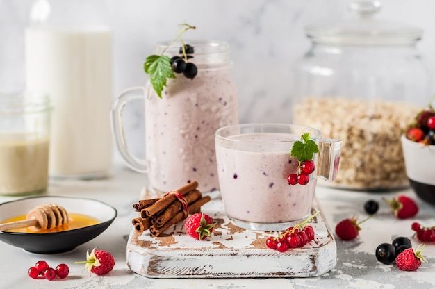 Berry and tahini smoothie