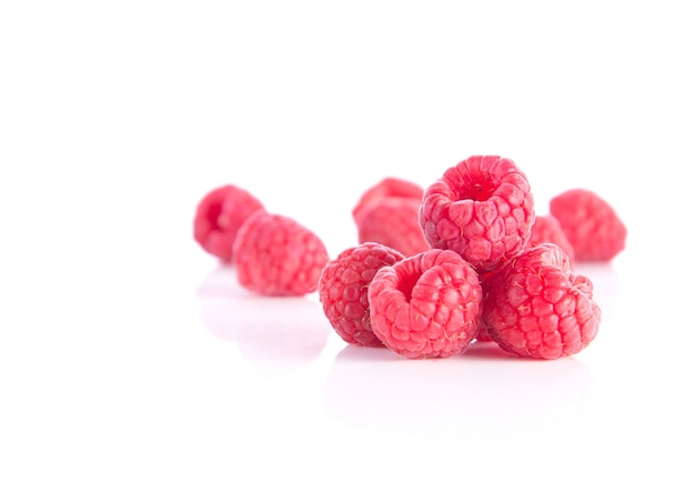 Berry on white background.