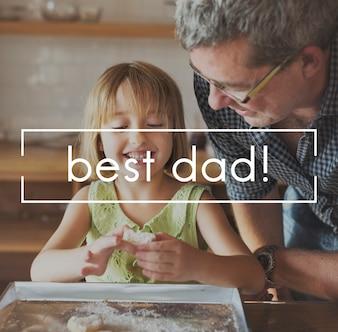 最高のお父さんお父さんの家族パパ親の感謝のコンセプト