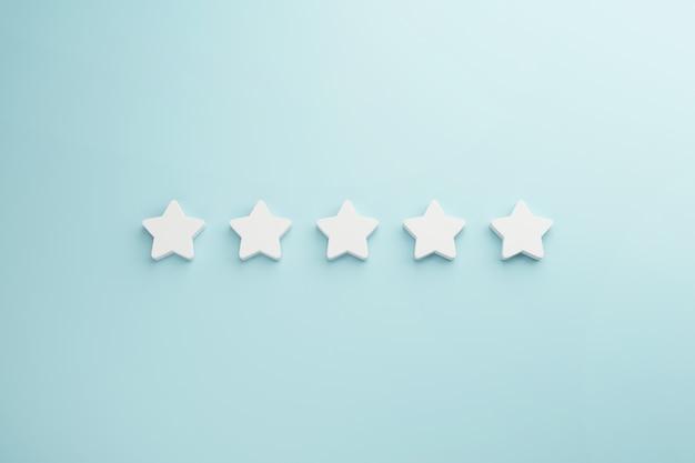 満足のための最高の優れたサービス評価。