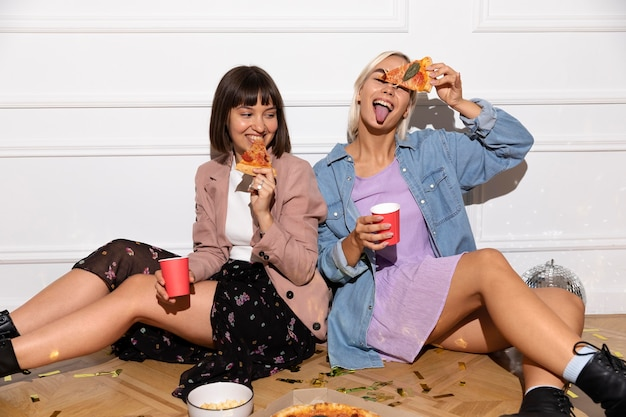 Best friends having fun at a party