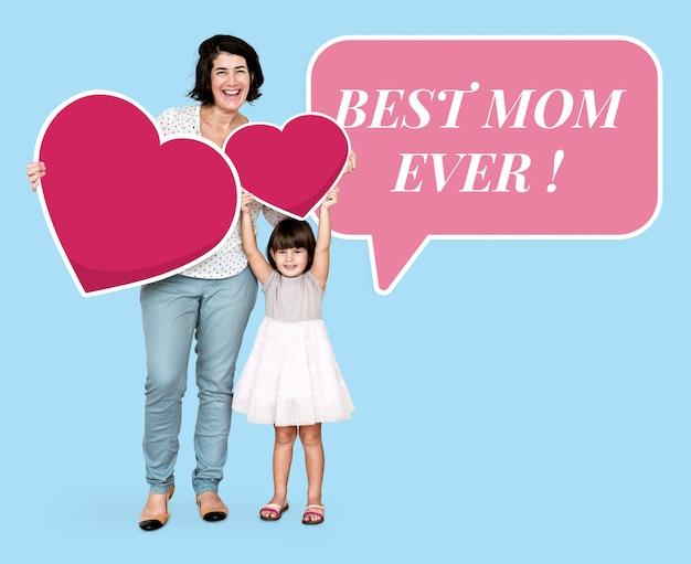 Best mom ever in a speech bubble