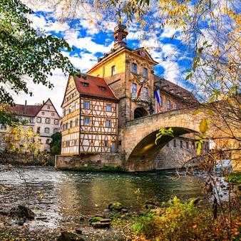 Лучшее из германии. красивый город бамберг в баварии