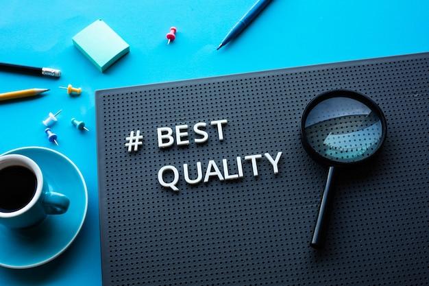 Лучшие концепции качества или управления бизнесом. обслуживание и оптимизация